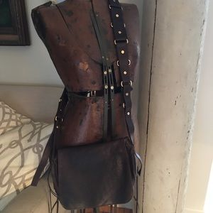 Handbags - Celine crossbody chocolate brown handbag.
